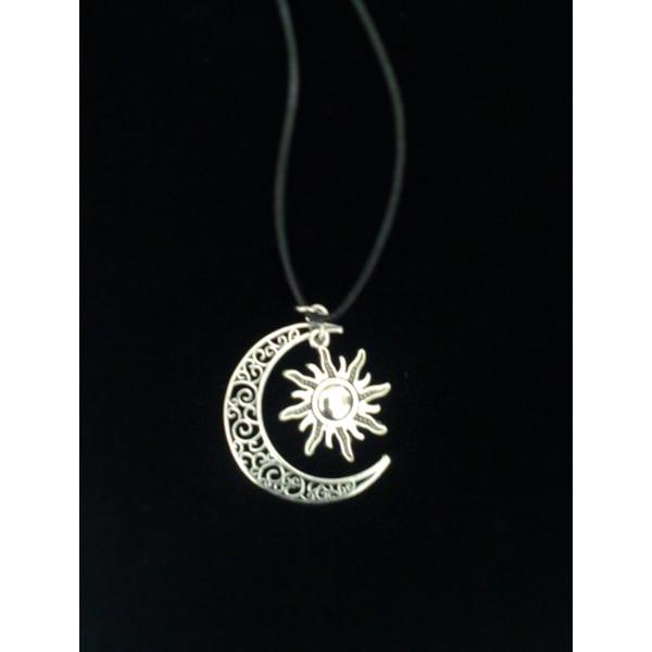 náhrdelník slnko mesic strieborný Naturedesign JoL00060