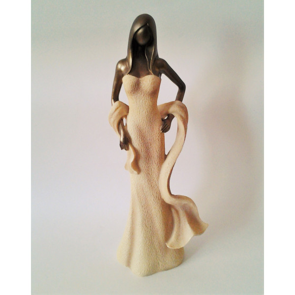 soška elegantná lady 13 x 29 cm