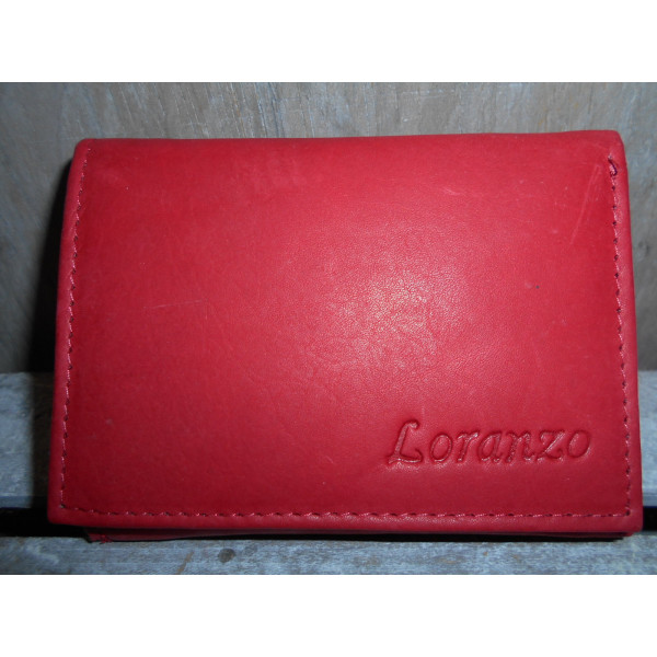 dámska kožená peňaženka červená 7x11 cm