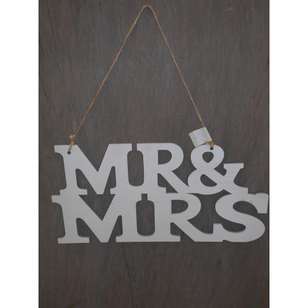 drevený nápis MR&MRS 15x30 cm