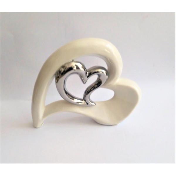 porcelánové srdce  22 x 19 cm