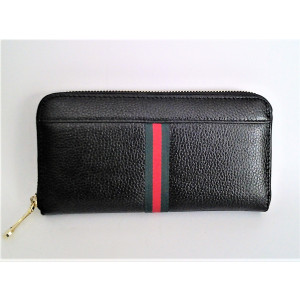 dámska peňaženka kožená čierna 20 x 10 x 3 cm