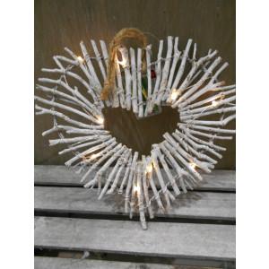 LED srdce závesné 25 cm