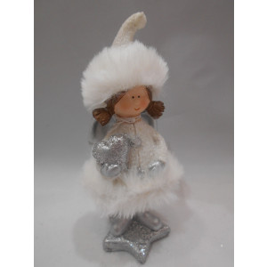 keramické dievčatko vianočné 13 cm