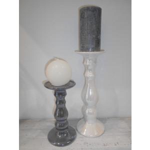 perleťový svietnik 19 cm
