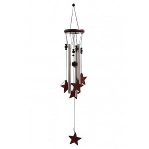 drevená zvonkohra hviezdy 60 cm