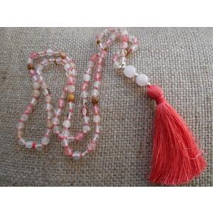 náhrdelník melónový turmalín so strapcom